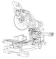 mitre saw blade concept vector image