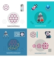Nanotechnology 4 flat icons square banner vector image vector image
