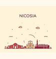nicosia skyline cyprus city linear style vector image vector image