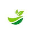 organic green leaf nature logo vector image vector image