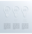 paper bulbs infographic vector image