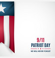 patriot day banner realistic ribbon in national vector image vector image