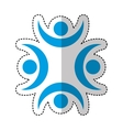 people silhouette teamwork emblem vector image vector image