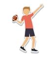 person figure athlete american football sport icon vector image vector image