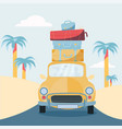 planning summer vacations travel car vehicle vector image vector image