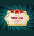 retro sign with lamp biggest sale vector image