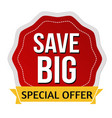 save big sticker or label vector image