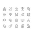 set 5g internet line icons database wireless vector image