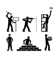 set builders outline vector image vector image