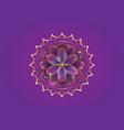 seventh chakra sahasrara logo template gold lotus vector image
