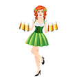 sexy woman with beer st patricks day vector image