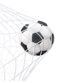 Soccer Ball In The Net Pictogram vector image vector image