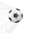 Soccer Ball In The Net Pictogram vector image
