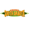 South Dakota Mount Rushmore State vector image vector image