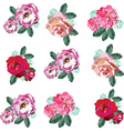 Spring Summer Flowers Set vector image vector image
