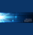 technologic blue abstract electronic template vector image