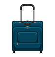 travel textile suitcase vector image vector image