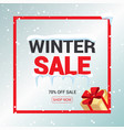 winter sale card or banner discount offer price vector image