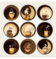 Coffee and tea symbols vector image