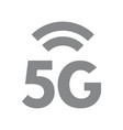 5g wireless network symbol fifth generation vector image vector image