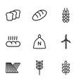 9 grain icons vector image vector image