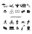 a set icons for recreation and entertainment vector image vector image
