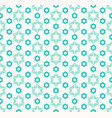abstract geometric pattern with flower shapes vector image vector image