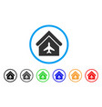 aircraft hangar rounded icon vector image