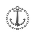 anchor with circular chain vector image vector image