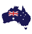 Australia Map Flag vector image vector image