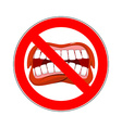 Ban cry It is forbidden to shout and swear vector image