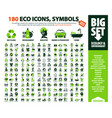 big set 180 eco icons vector image