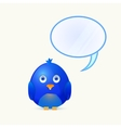 Bird with Bubble Chat Box vector image vector image