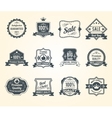 Black retro sales labels icons collection vector image vector image