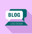 blog logo flat style vector image vector image