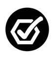 check list button icon vector image vector image