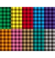 Checkered seamless patterns vector image