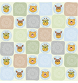 childish seamless pattern with animal toys vector image