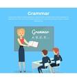 children grammar teaching vector image
