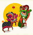 Chinese Lunar New Year Lion Dance Fight vector image vector image