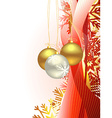 Christmas beautiful artistic wave and balls vector image vector image