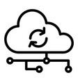 cloud synchronization line icon network vector image vector image