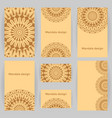 collection of templates with mandalas vector image