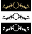 decorative frame with vintage pattern three vector image