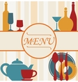 Design of restaurant menu background vector image vector image