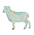 Easter lamb polygons white background vector image vector image