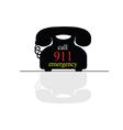 emergency call phone vector image