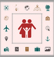 family icon symbol elements for your design vector image