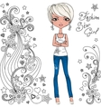 Fashion hipster girl and star