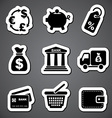 finance sticker label vector image vector image